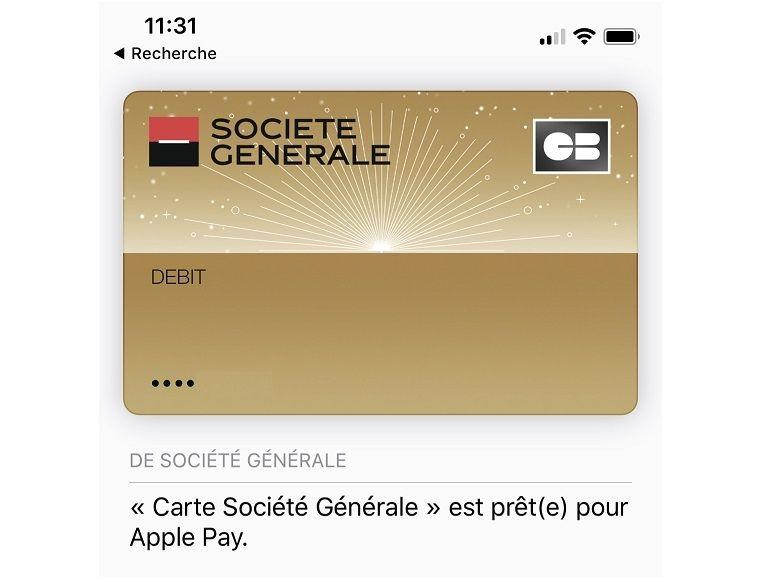 Apple Pay est disponible à la Société Générale ce mercredi 14 février [MAJ]