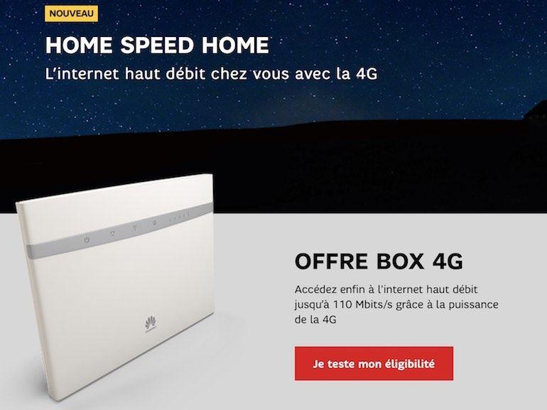 Problème de débit ADSL ? SFR offre un mois d'essai pour sa 4G Box