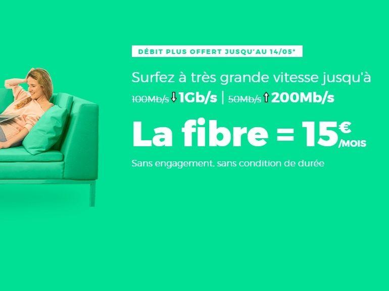 La box internet Fibre ou ADSL RED by SFR est à 15 € / mois jusqu'au 14 mai