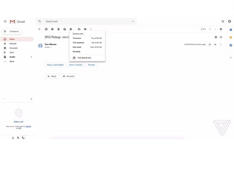 Gmail : la nouvelle interface se dévoile en images