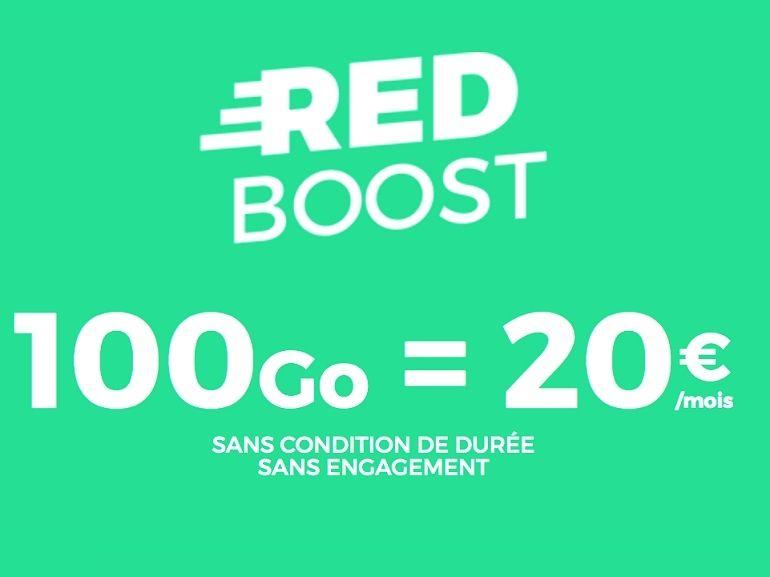 Le forfait RED by SFR 100 Go à 20€ devrait parler aux gros consommateurs de 4G