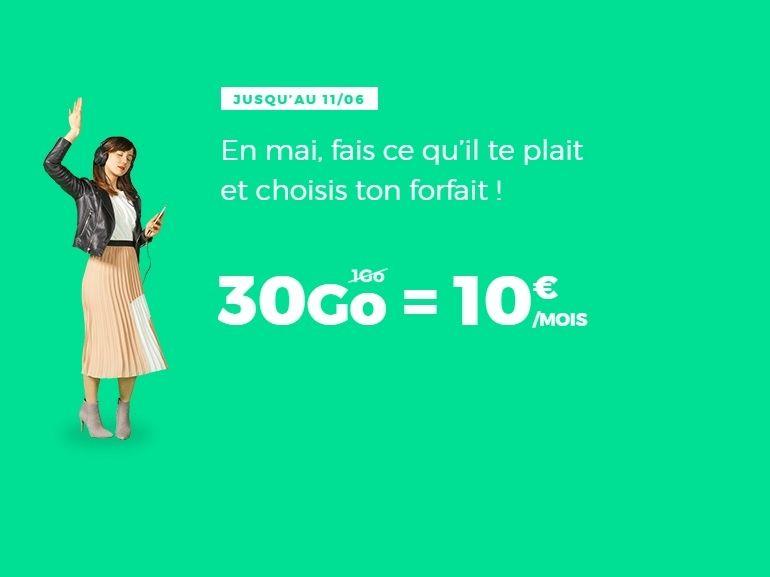 Le forfait RED by SFR 30 Go à 10 euros fait son grand retour