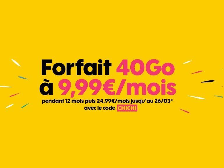Derniers jours pour profiter du forfait Sosh 20 Go à 4,99€ au lieu de 20