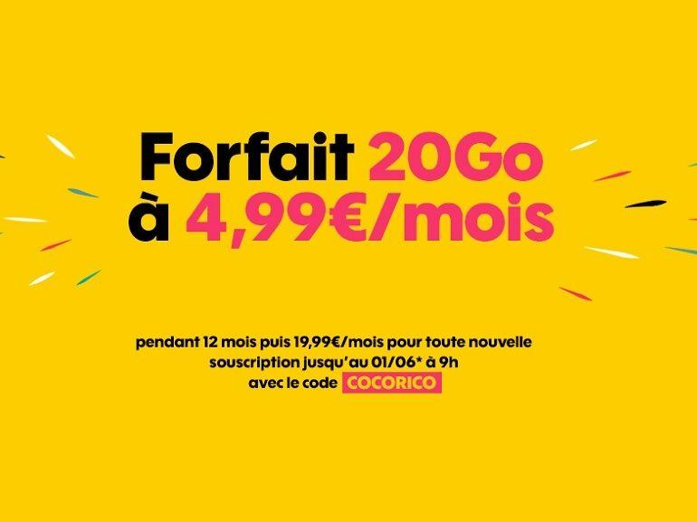 Orange : le forfait Sosh 20 Go est en promotion à 5 euros au lieu de 20