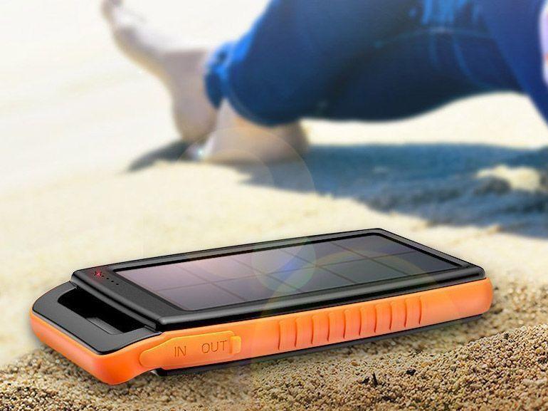 Bon plan : un chargeur de secours 15000 mAh avec panneau solaire à 19,99€