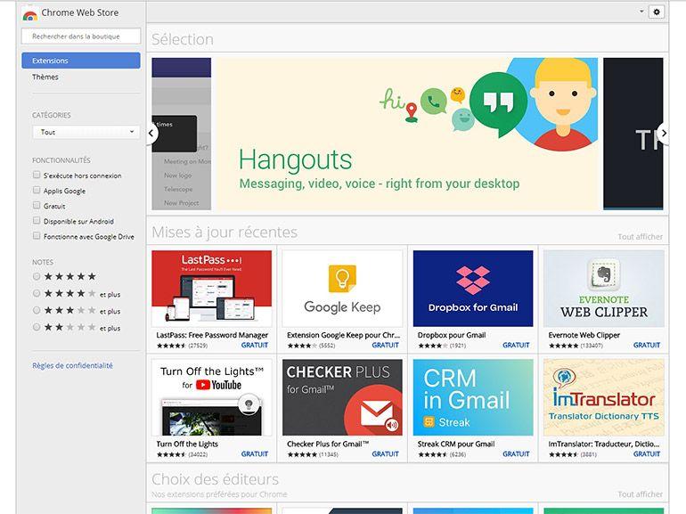 Chrome : Google limite l'installation des extensions à son Web Store