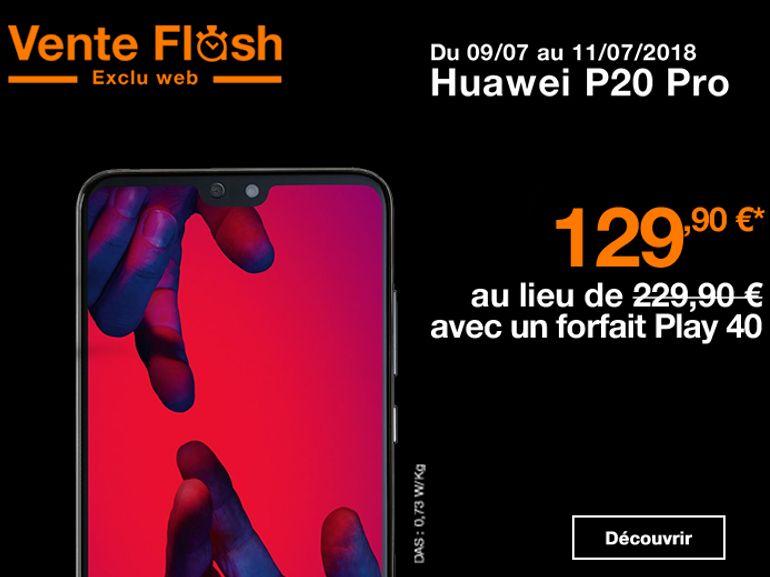 """Orange : Le Huawei P20 Pro à 129 euros avec un forfait """"Play"""""""