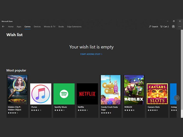 Microsoft Store : de nouvelles fonctionnalités en préparation