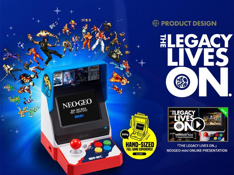 E3 2018 : Neo Geo Mini, une vraie petite borne d'arcade avec 40 jeux intégrés