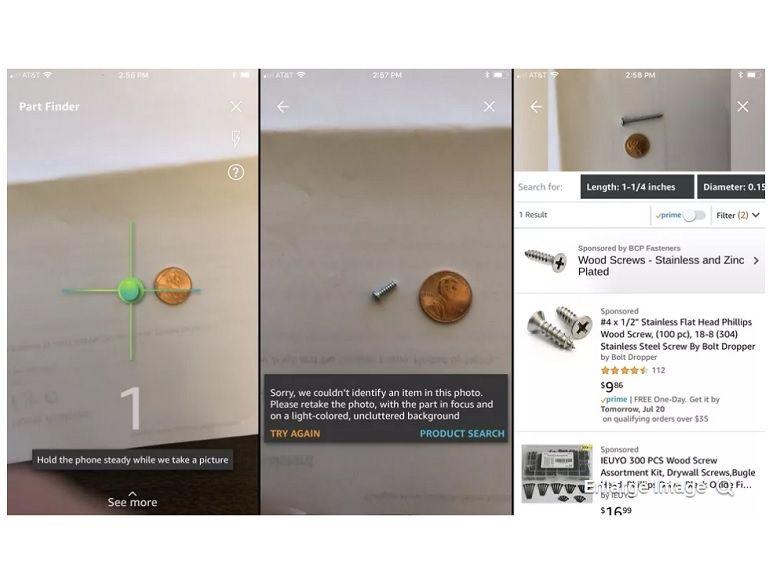 Amazon Part Finder : trouver une vis via l'appareil photo c'est génial, en pratique, c'est pas encore ça…