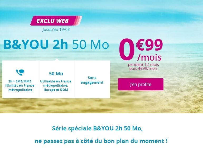 Bouygues Telecom prolonge son forfait sans engagement à moins de 1 euro