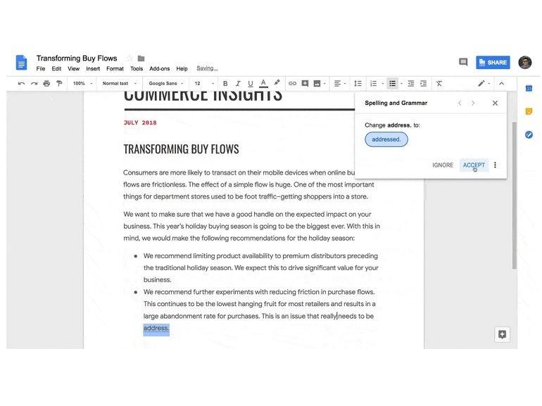 Google Docs : un correcteur orthographique biberonné à l'intelligence artificielle