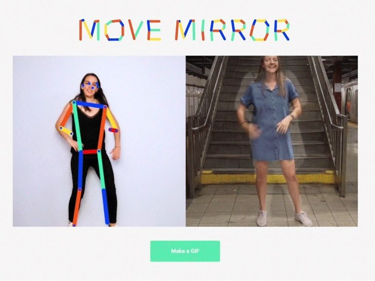 Move Mirror : quand l'IA de Google compare vos mouvements avec ceux de 80.000 personnes