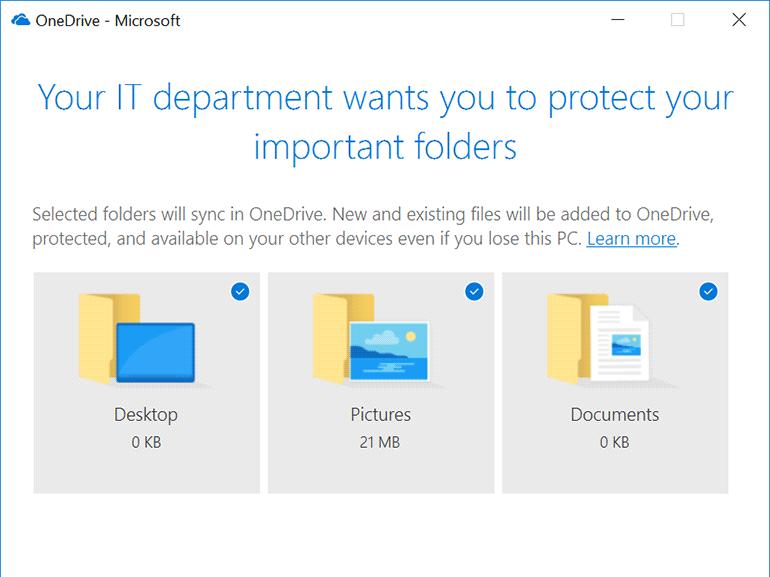 OneDrive : une nouvelle fonction de sauvegarde automatique des dossiers personnels