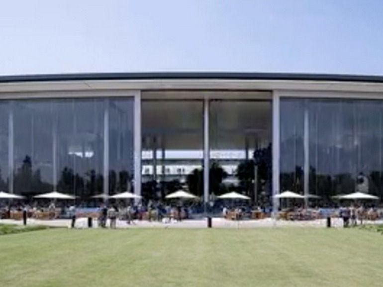 Apple Park : découvrez les incroyables portes vitrées de sa cafétéria