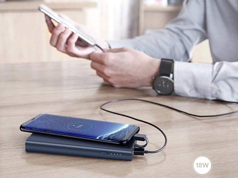 Bon plan : une batterie externe 10000mAh avec câble USB C intégré à 25,99€
