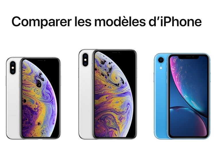 iPhone Xs, Xs Max ou Xr : quelles sont les différences et lequel choisir ?