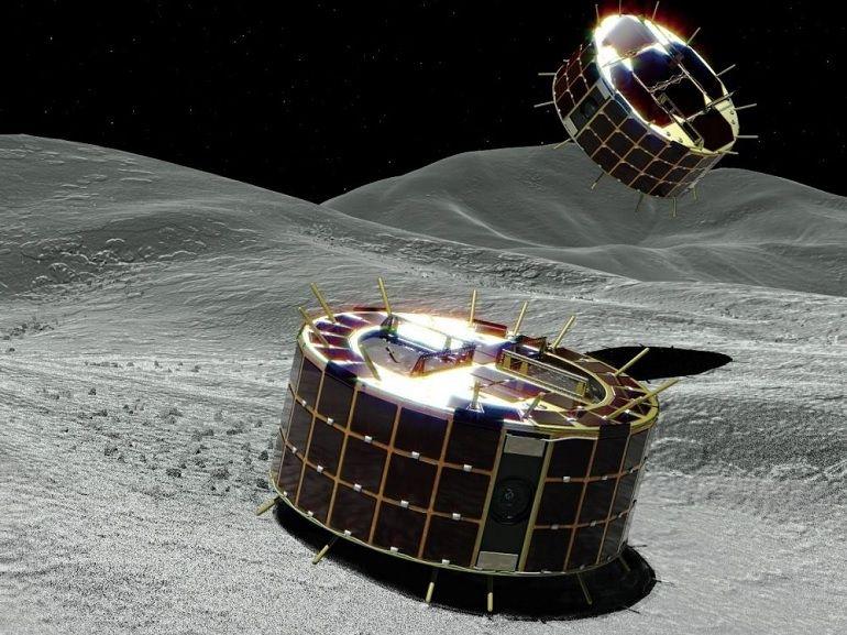 Nouvelles images prises par les robots japonais à la surface de l'astéroïde Ryugu