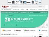 Rakuten : 20% remboursés sur tout le site