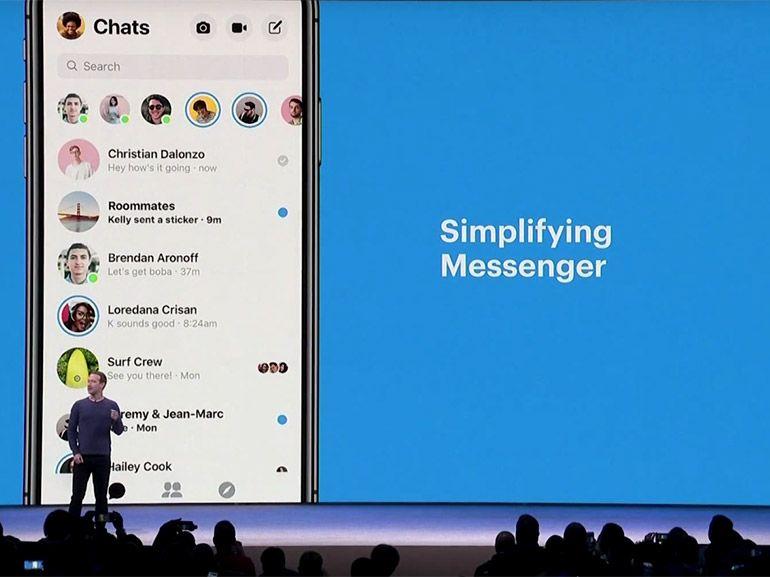 Facebook Messenger : le réseau social simplifie son application de messagerie