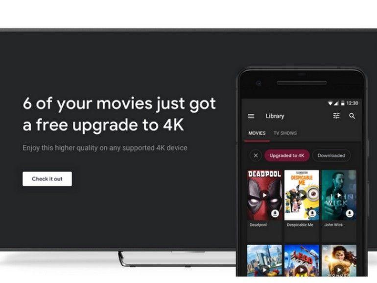 Google Play : les films déjà achetés mis à jour gratuitement en 4K, mais pas chez nous