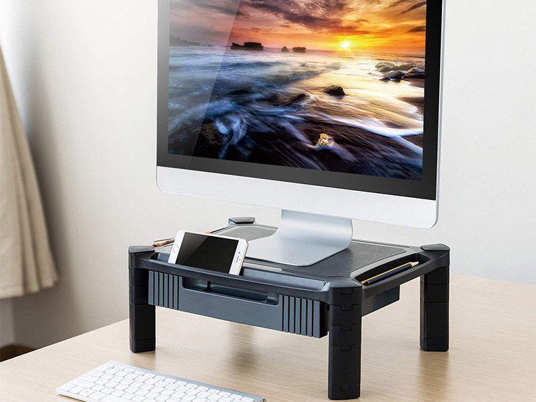 Bon plan : un support d'ordinateur ajustable avec tiroir à accessoires à 19,49€