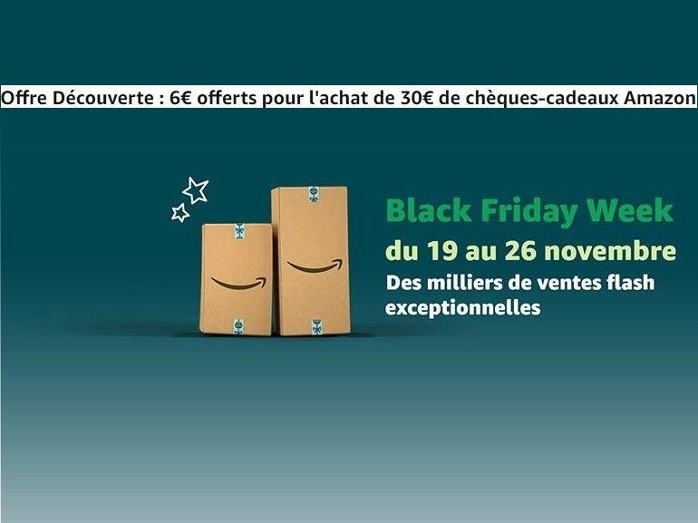 Noël chez Amazon : 6€ offerts pour l'achat de 30€ de chèques-cadeaux jusqu'au 2 décembre