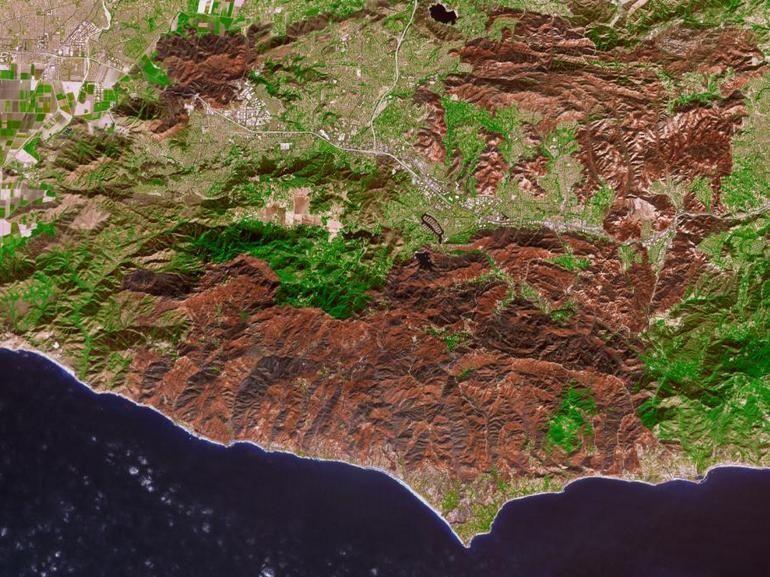 Incendies en Californie : les terribles stigmates visibles depuis l'espace