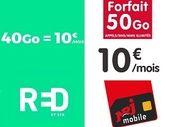 Forfait mobile à 10 euros : NRJ Mobile ou RED by SFR, lequel choisir ?
