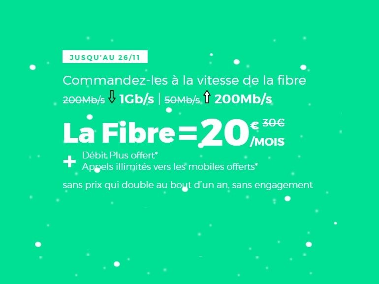 La box Internet fibre RED by SFR à 1 Gb/s est à 20 euros, et c'est un bon plan
