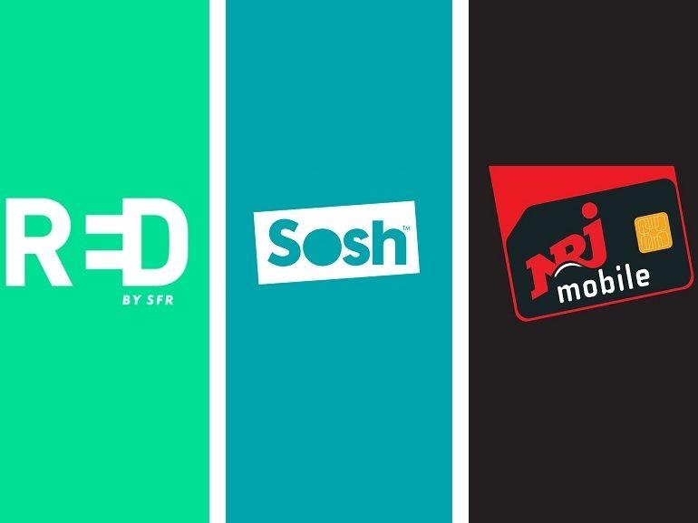 Sosh, RED by SFR, ou NRJ Mobile : quel forfait mobile à 10 euros choisir ?