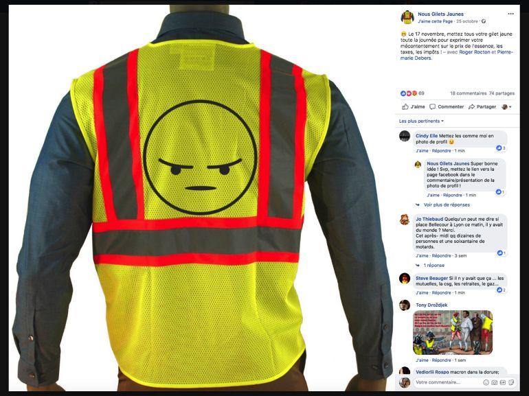 foto de Comment Facebook a permis aux Gilets Jaunes de se mobiliser - CNET ...