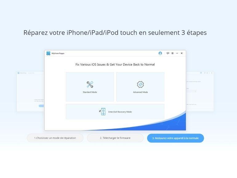 iPhone bloqué, écran noir ? iMyFone Fixppo restaure iOS et vos données