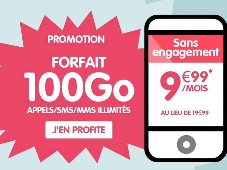 Le forfait mobile 100 Go est à moins de 10 euros chez NRJ Mobile