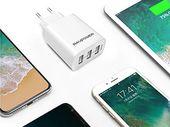 Bon plan : un chargeur secteur mural 3 ports USB 2.4A à 9,99€