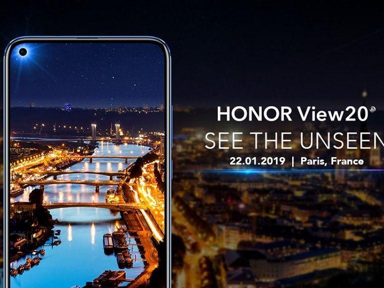 Honor View 20 : découpe circulaire dans l'écran et capteur 48 Mpx au menu