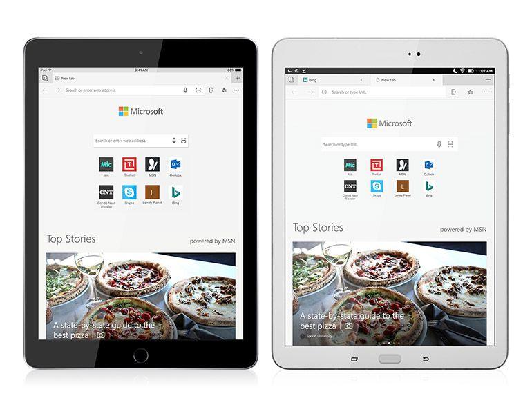 Microsoft Edge est maintenant optimisé pour les iPad et tablettes Android