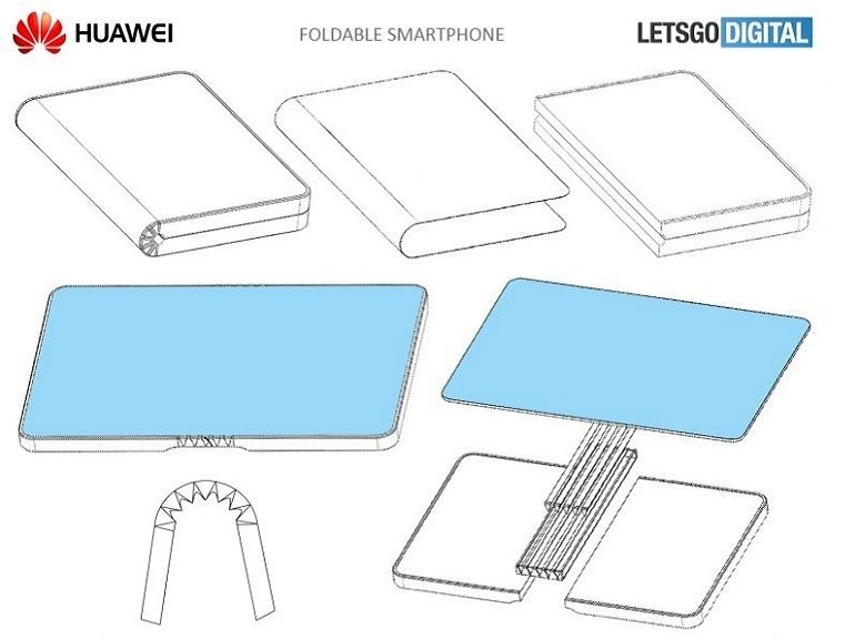 Huawei a son brevet de smartphone pliable