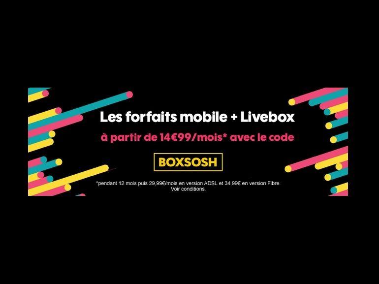 Orange Sosh : la fibre (ou l'ADSL) + forfait Mobile pour 15€ par mois au lieu de 35