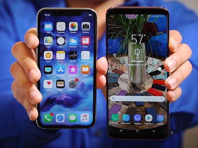 Le Galaxy S9+ et l'iPhone X se tiennent dans un mouchoir de poche concernant les coûts de fabrication