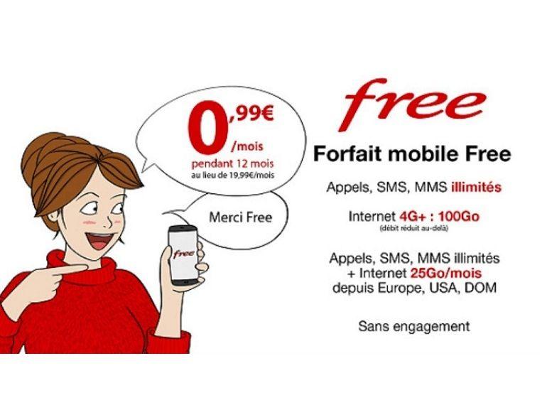 Free propose son forfait 100 Go à 0.99€ pendant 1 an sur Vente-privée