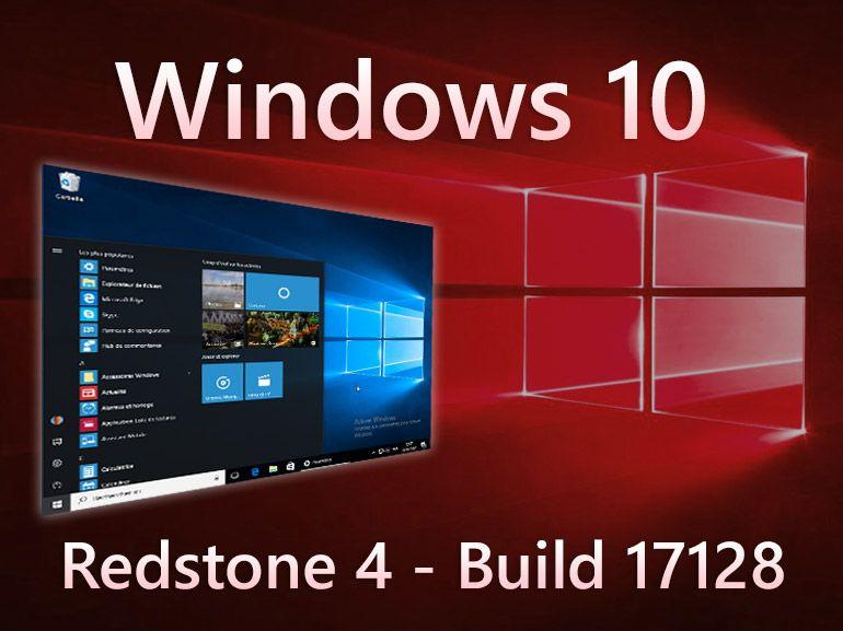 Windows 10 build 17128 : le bureau s'affiche sans mention de version