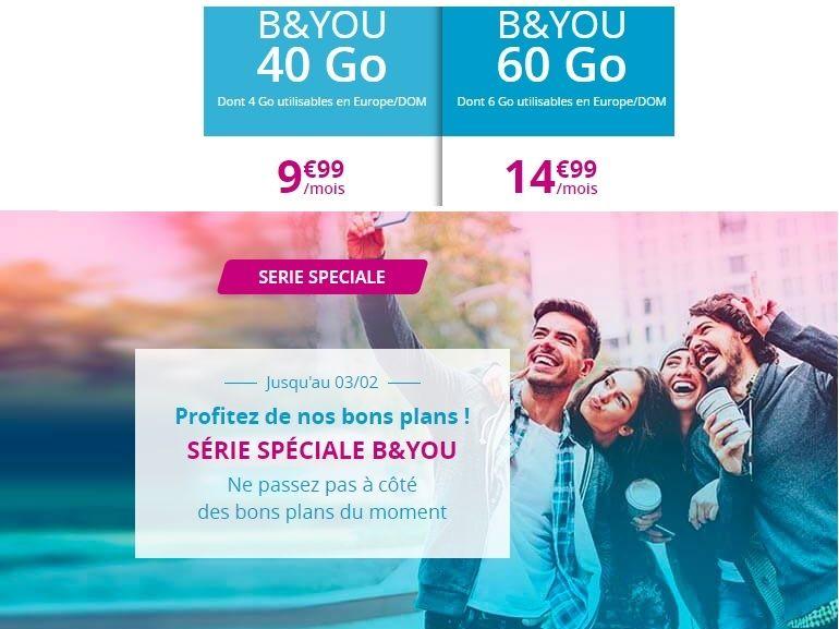 Les forfaits mobiles en promo de B&You (Bouygues Telecom) prendront fin ce soir