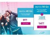 Bouygues Telecom (B&You) lance un forfait 50 Go à 14,99€ avec Internet illimité le week-end