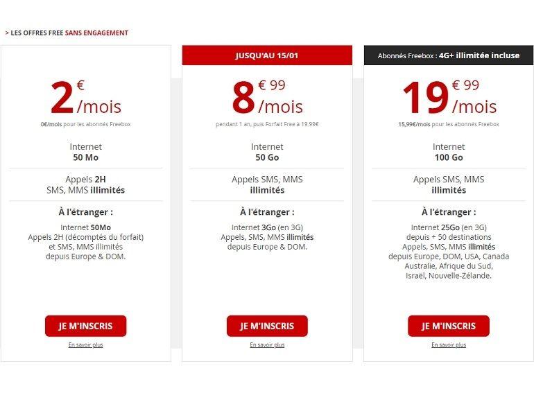 La promotion sur le forfait Free Mobile 50 Go à 8,99 euros devrait prendre fin demain