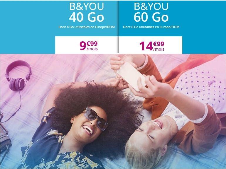 Les forfaits en promo de Bouygues Telecom (B&You) sont prolongés jusqu'à début février