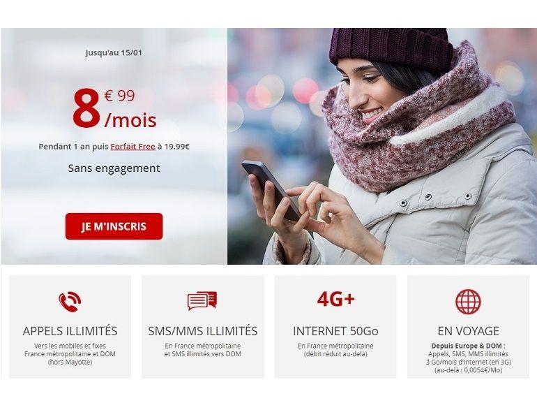 Free Mobile prolonge son forfait 50 Go à moins de 9 euros