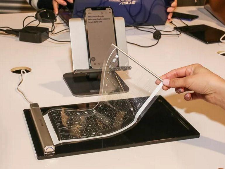 CES 2019 : Royole dévoile un clavier flexible et un haut-parleur intelligent avec écran OLED incurvé