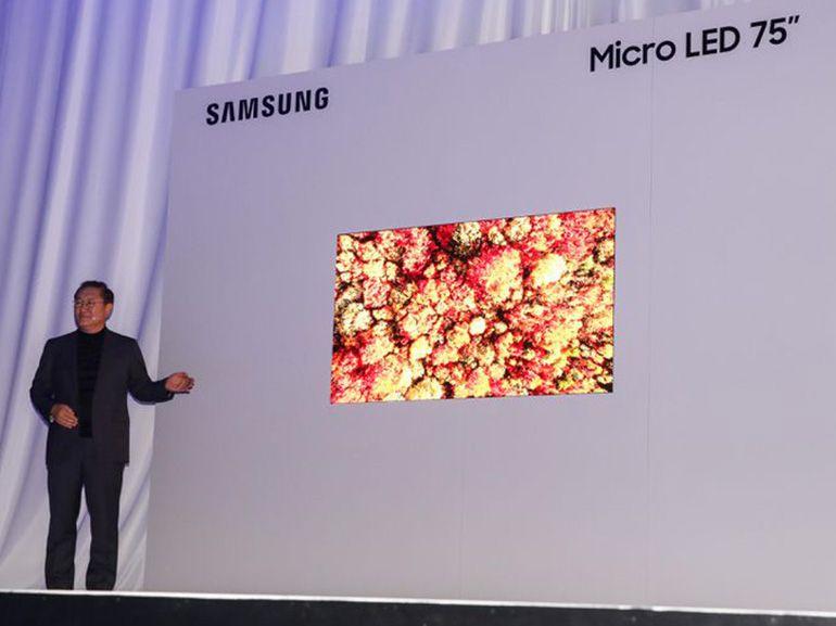 CES 2019 : Samsung parvient à rétrécir sa dalle MicroLED à 75 pouces
