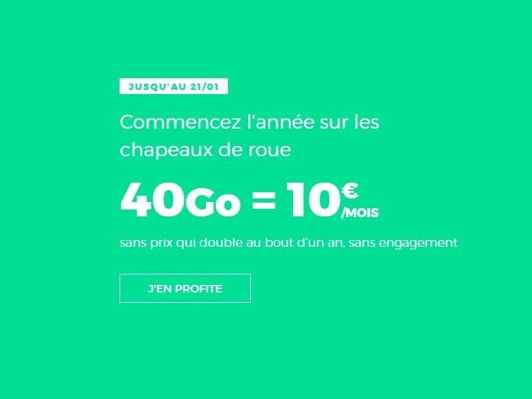 Le forfait RED by SFR 40 Go à 10 euros est prolongé jusqu'au 21 janvier